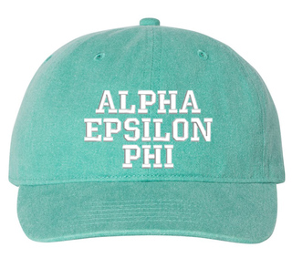 Alpha Epsilon Phi Comfort Colors Pigment Dyed Baseball Cap