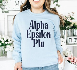 Alpha Epsilon Phi Comfort Colors Rosie Crew