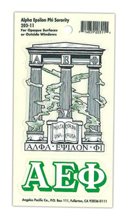 Alpha Epsilon Phi Crest - Shield Decals