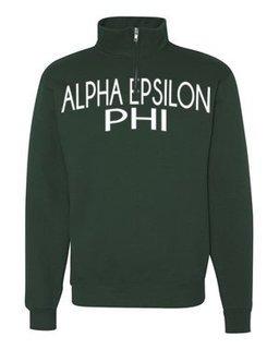 Alpha Epsilon Phi Over Zipper Quarter Zipper Sweatshirt