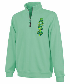 Alpha Epsilon Phi Crosswind Quarter Zip Twill Lettered Sweatshirt