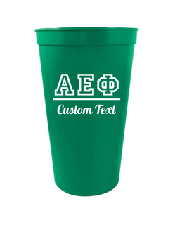Alpha Epsilon Phi Custom Greek Collegiate Stadium Cup