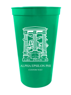 Alpha Epsilon Phi Custom Greek Crest Letter Stadium Cup
