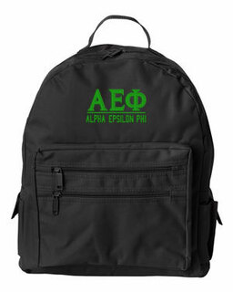 Alpha Epsilon Phi Custom Text Backpack