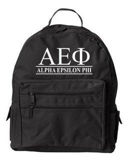 Alpha Epsilon Phi Custom Text Backpack