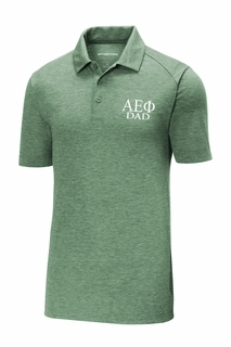 Alpha Epsilon Phi Dad Posicharge Tri Blend Wicking Polo