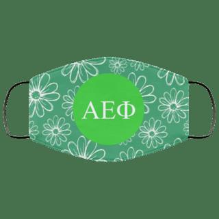 Alpha Epsilon Phi Daisies Face Mask