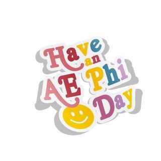 Alpha Epsilon Phi Day Decal Sticker