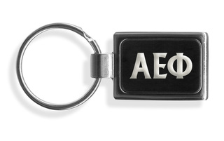 Alpha Epsilon Phi Engraved Chrome Keychains