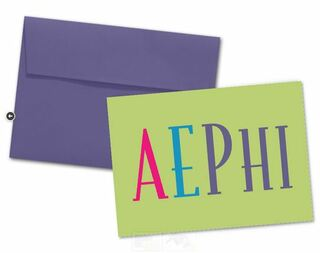 Alpha Epsilon Phi Color Text Notecards(6)