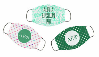 Alpha Epsilon Phi Face Mask Trio Set