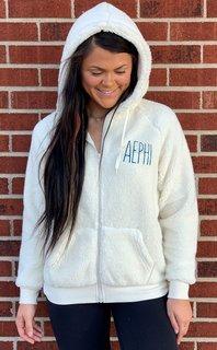 Alpha Epsilon Phi Fiona Sherpa Full Zip
