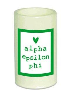 Alpha Epsilon Phi Flameless Candle