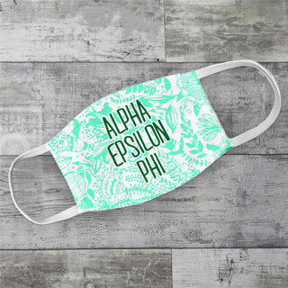 Alpha Epsilon Phi Floral Face Mask