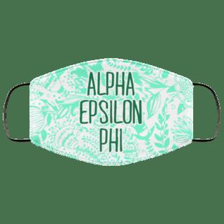 Alpha Epsilon Phi Floral Face Mask