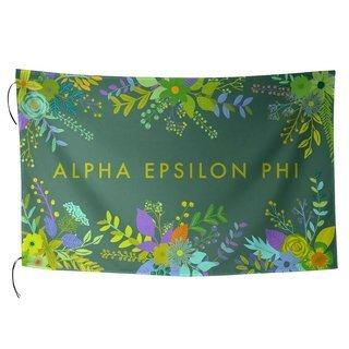 Alpha Epsilon Phi Floral Flag