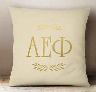 Alpha Epsilon Phi Foil Letters Pillow