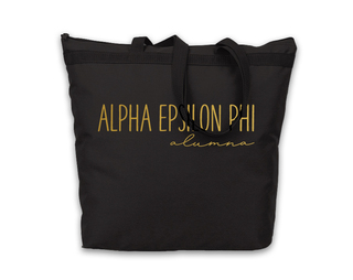Alpha Epsilon Phi Gold Foil Alumna Tote