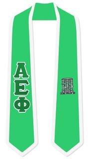 Alpha Epsilon Phi Greek 2 Tone Lettered Graduation Sash Stole