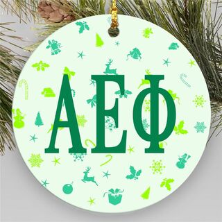 Alpha Epsilon Phi Holiday Cheer Ornament