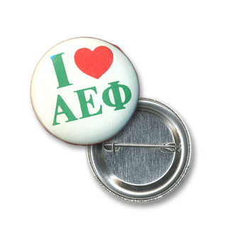 Alpha Epsilon Phi I Love Mini Sorority Buttons