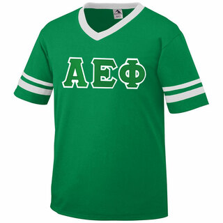 DISCOUNT-Alpha Epsilon Phi Jersey With Greek Applique Letters