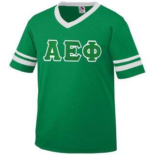DISCOUNT-Alpha Epsilon Phi Jersey With Greek Applique Letters