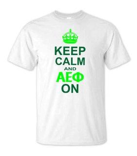 Alpha Epsilon Phi Keep Calm T-Shirts