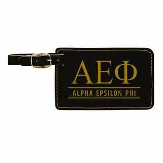 Alpha Epsilon Phi Leatherette Luggage Tag