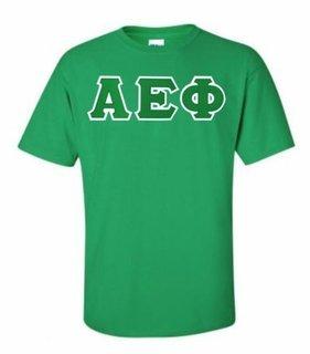 Alpha Epsilon Phi Lettered T-shirt - MADE FAST!