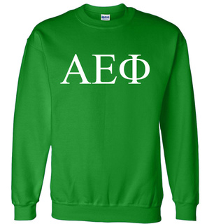 Alpha Epsilon Phi Lettered World Famous $19.95 Greek Crewneck