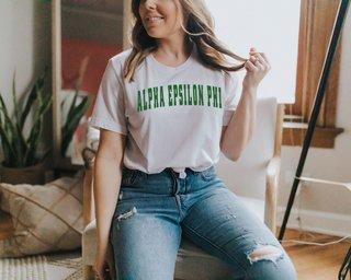 Alpha Epsilon Phi Letterman T-Shirts