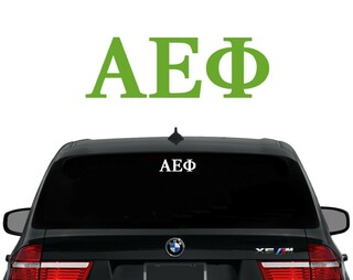 Alpha Epsilon Phi Letters Decal