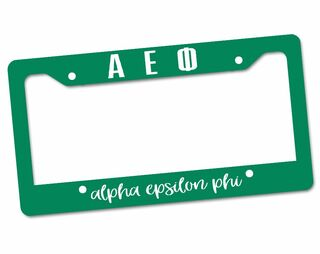 Alpha Epsilon Phi License Plate Frame