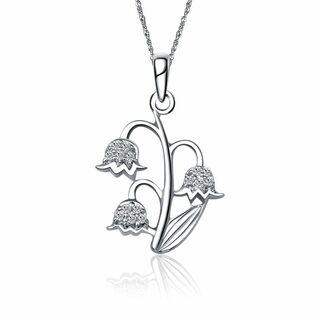 Alpha Epsilon Phi Lily of the Valley Silver Lavalier