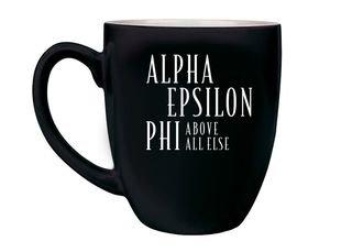 Alpha Epsilon Phi Logo Bistro Mug