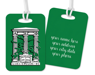 Alpha Epsilon Phi Crest - Shield Luggage Tag