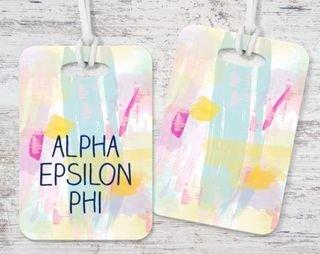 Alpha Epsilon Phi Watercolor Luggage Tag