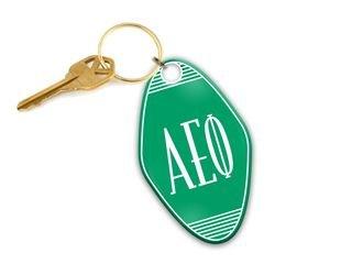 Alpha Epsilon Phi Mascot Motel Keychain