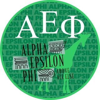 Alpha Epsilon Phi Mascot Round Decals