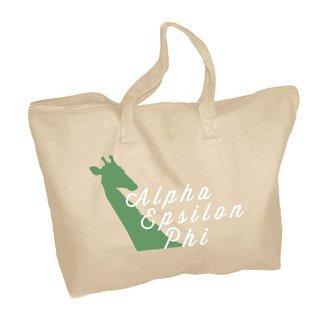Alpha Epsilon Phi Mascot Zippered Tote Bag