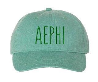 Alpha Epsilon Phi Mod Comfort Colors Pigment Dyed Baseball Cap