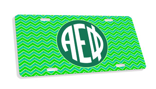 Alpha Epsilon Phi Monogram License Plate