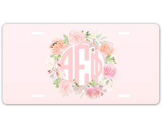 Alpha Epsilon Phi Monogram License Plate