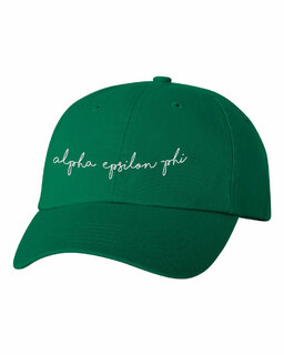 Alpha Epsilon Phi Smiling Script Greek Hat