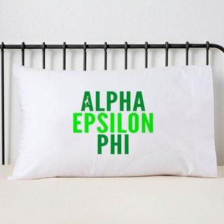 Alpha Epsilon Phi Name Stack Pillow Cover