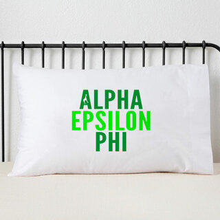 Alpha Epsilon Phi Name Stack Pillow Cover