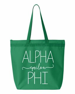 Alpha Epsilon Phi New Handwriting Tote Bag