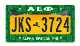 Alpha Epsilon Phi New License Plate Frame