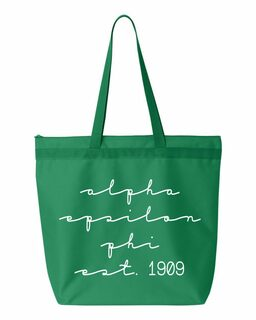 Alpha Epsilon Phi New Script Established Tote Bag